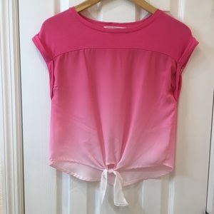 Hippie Rose Pink Blouse Size XS
